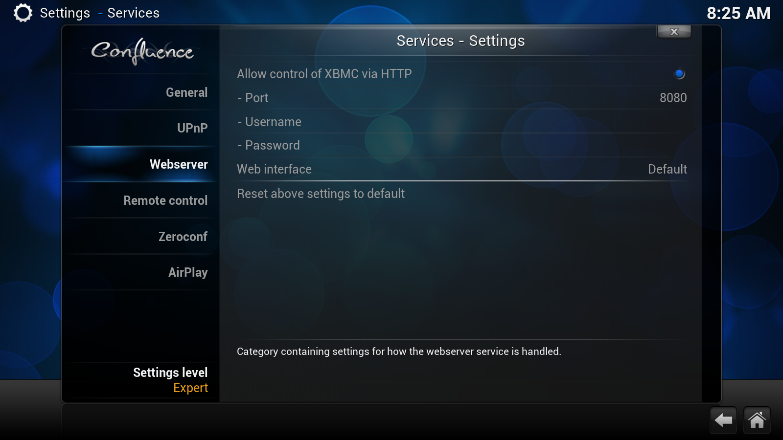 XBMC Settings 1